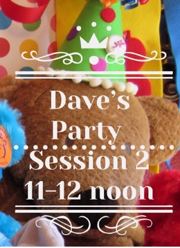 Dave's 5th Annual Teddy Bear Stuffing Party March 28, 2020 Session II 11-Noon