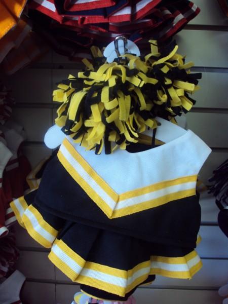 Black, Yellow and White Cheer Uniform-