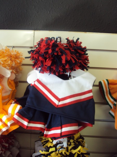 Navy, Red and White Cheer Uniform-