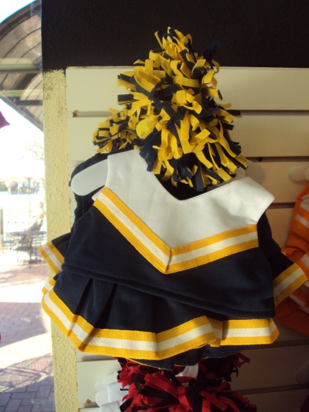 Navy, Yellow and White Cheer Uniform-