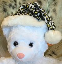 Leopard Santa Hat-