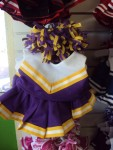 Purple, Yellow and White Cheer Uniform-