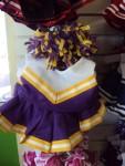 Purple, Yellow and White Cheer Uniform