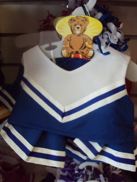 Royal Blue and White Cheer Uniform